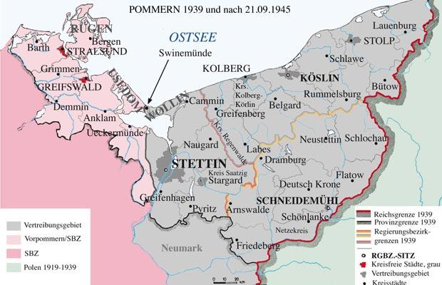 Pommern Karte Vor 1945.Vossischer Blog Die Nachkriegszeit In Pommern
