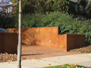 Faded Terra Cotta Acid Stained Concrete Retaining Walls Located In Minneapolis Mn We Worked With Locus Architecture To Create This Very Functional And
