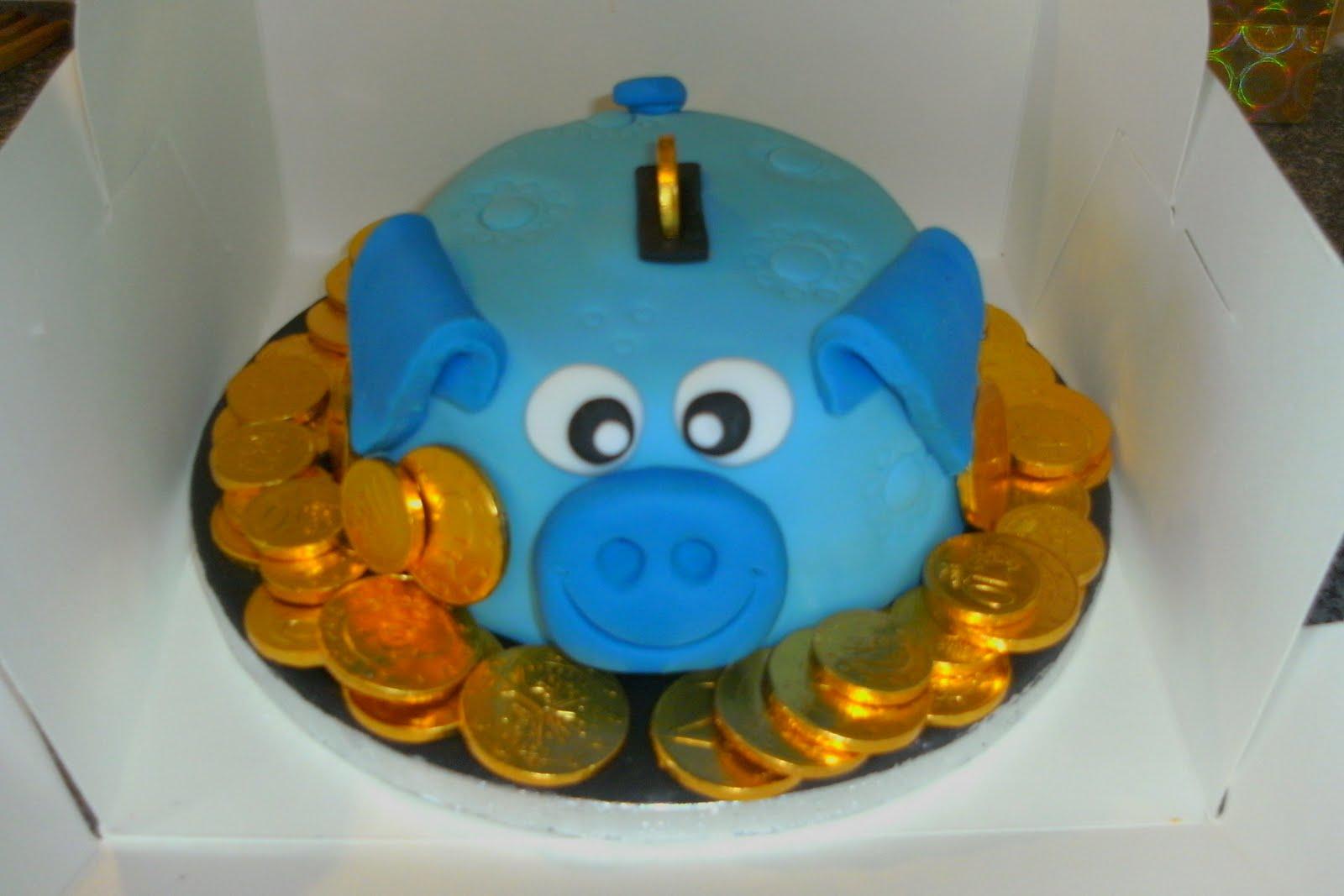 Sam S Cakes Piggy Bank Cake