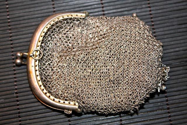 Monedero de malla Vintage