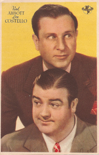 Retrato antiguo de Abbott y Costello