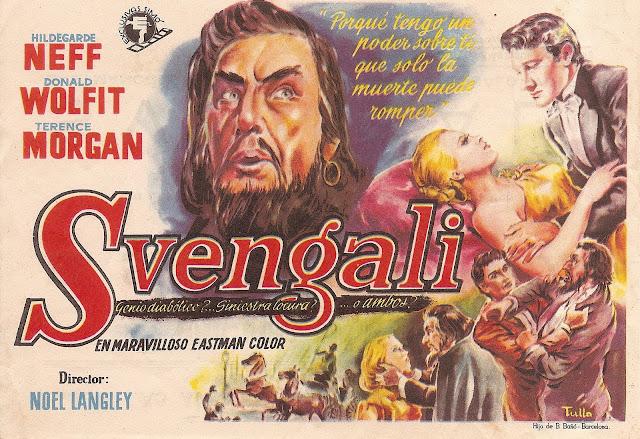 Programa de Cine - Svengali - Año 1954 - Hildagarde Neff - Donald Wolfit