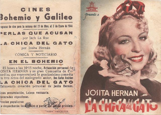 Programa de Cine - La Chica del Gato - Fernando Fernán Gómez - Josita Hernán
