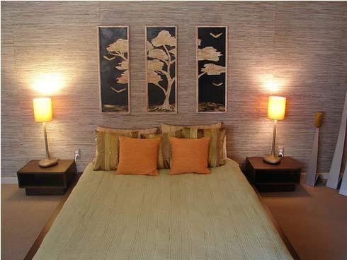 Dormitorios peque os decoraci n - Quadri sopra il letto ...