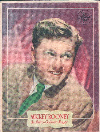 Retrato antiguo de Mickey Rooney