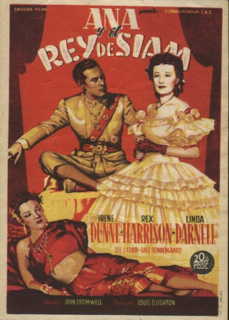 Programa de Cine - Ana y El Rey de Siam - Irene Dunne - Rex Harrison