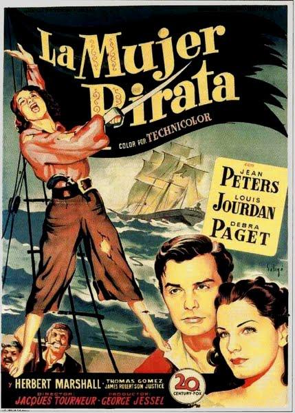 Programa de Cine - La Mujer Pirata - Jean Peters - Louis Jourdan - Debra Paget