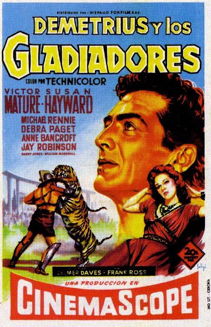 Programa de Cine - Demetrius y los Gladiadores - Victor Mature - Susan Hayward - Debra Paget - Michael Rennie