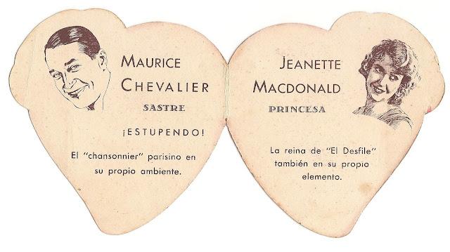 Amame esta Noche - Programa de cine - Maurice Chevalier - Jeannette Macdonald