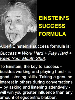 i trust, i can: Einstein's Success Formula |Einstein Work Quote