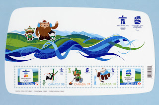 Vancouver 2010 Winter Games Mascots and Emblems Stamps