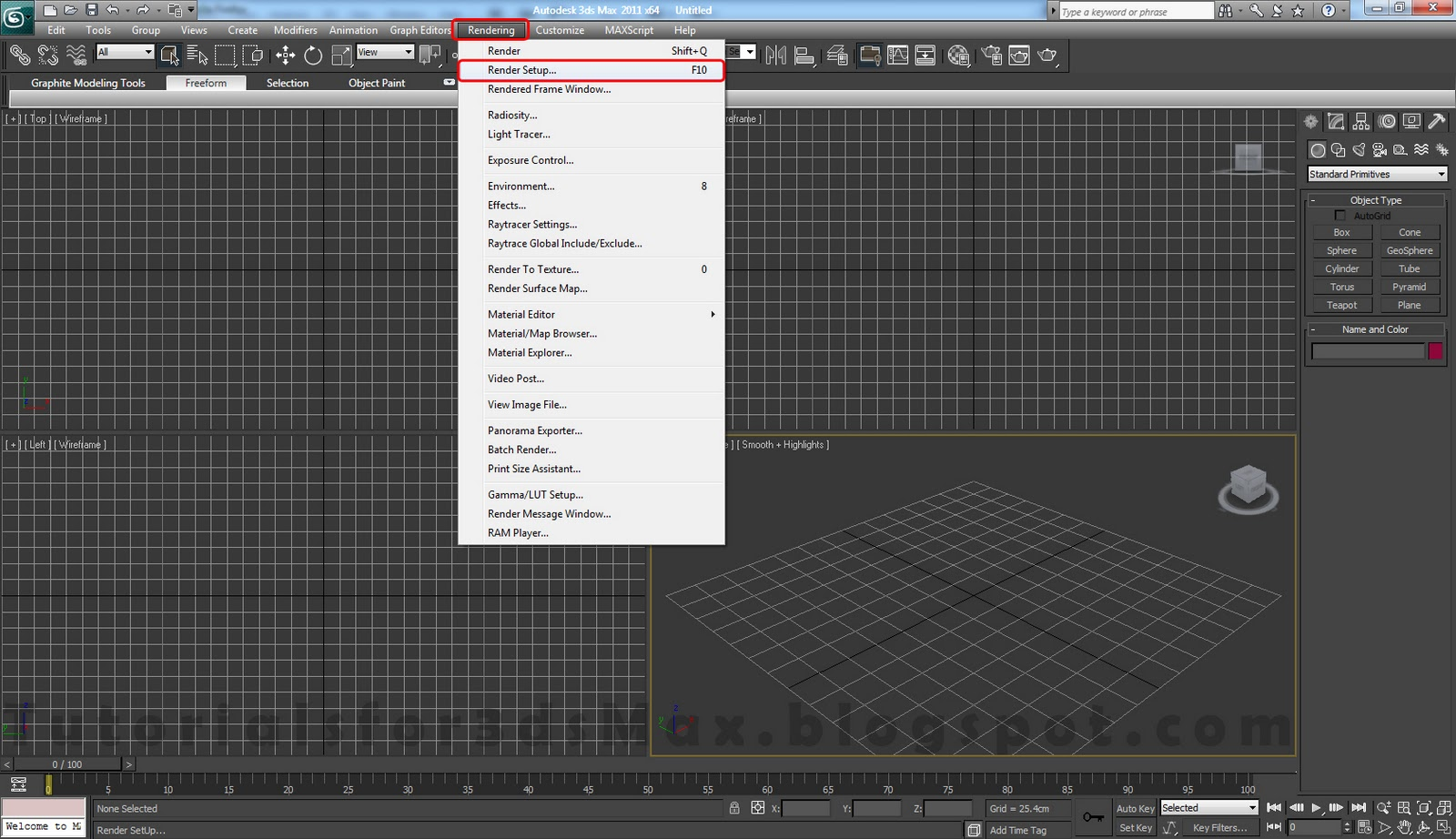 Tutorials For 3ds Max: Studio Setup - 3ds Max and Vray