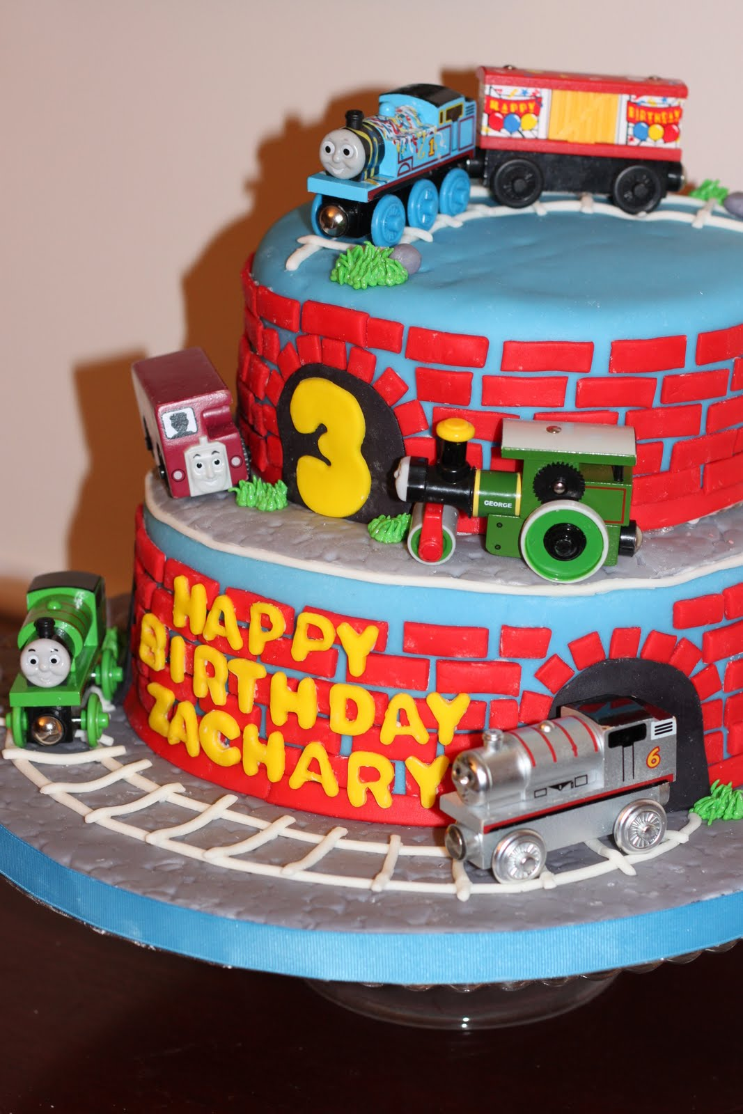 Delightful Slice Thomas The Train Cake