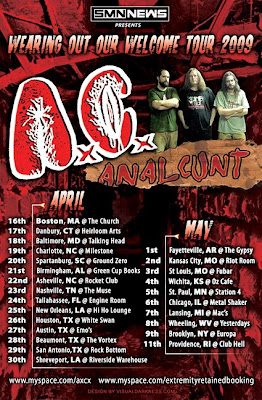Anal Cunt Tour Dates 12