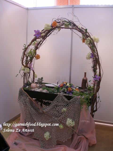 Garnishfoodblog fruit carving arrangements and food garnishes wedding table seaside theme decoration junglespirit Images