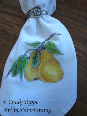 Pears, Fruit of the Spirit, easy fabric painting, Fabric Fun Pentel Arts, Cindy Rippe