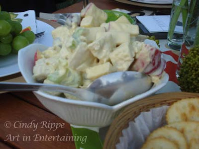 #Ravinia Festival, #Summer Evening, #Waldorf Chicken Salad,  #Picnic with Family, #Florals-Family-Faith, #Cindy Rippe