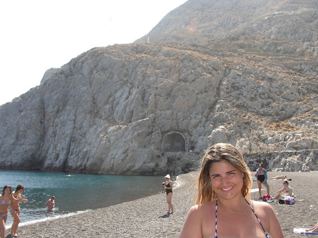 Praia Kamari, Santorini.