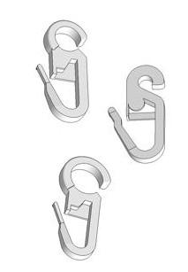 crochets agrafes clips et accessoires en plastique pour la confection et la suspension de rideaux. Black Bedroom Furniture Sets. Home Design Ideas