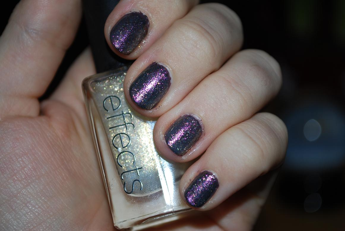 ABC nails: Models own purple grey + Orly space cadet + CND