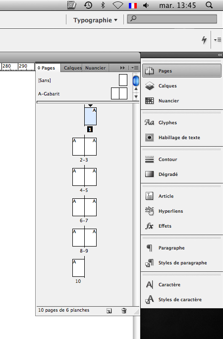 exemple de pagination cv