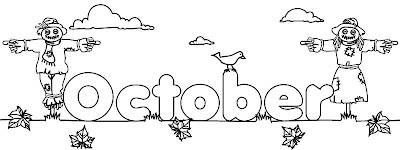 Other Graphical Works: Calendar header for kids to color
