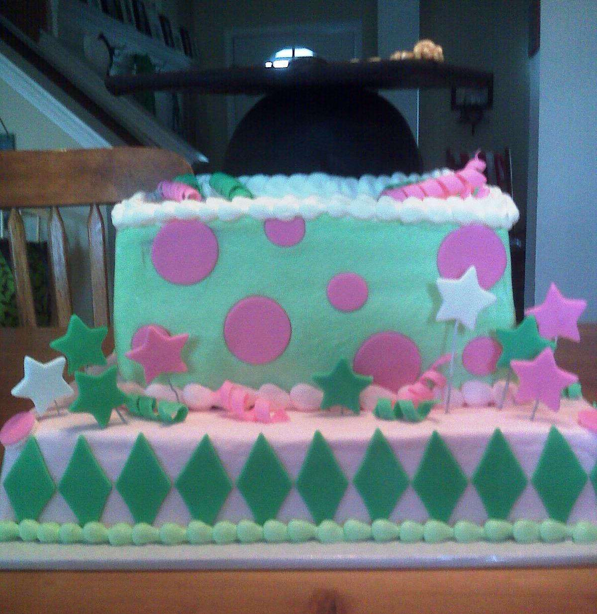 Cake Scraps: Katie's Grad Cake, Joni's Shoe Cake, Birthday