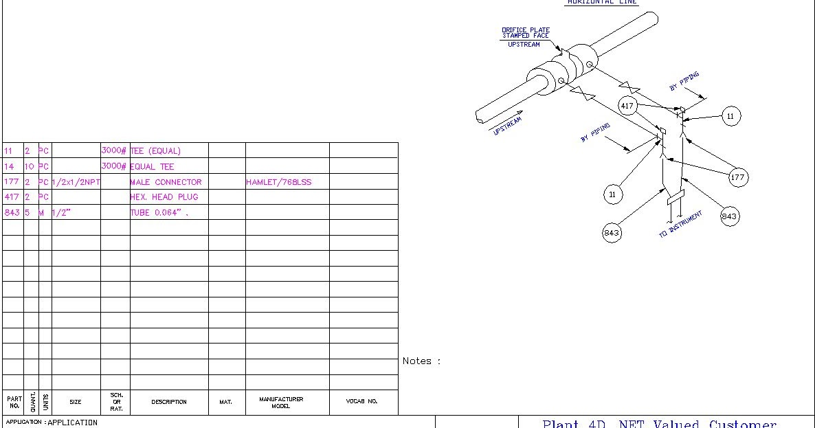 Pressure gauge installation hook up drawing
