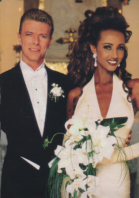 Blogger of the Bride: David Bowie and Iman get married