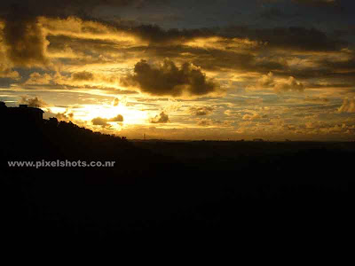 beautiful sunset scenery photograph from india kerala trivandrum