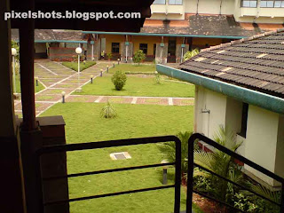 garden view from the first floor of iim calicut india
