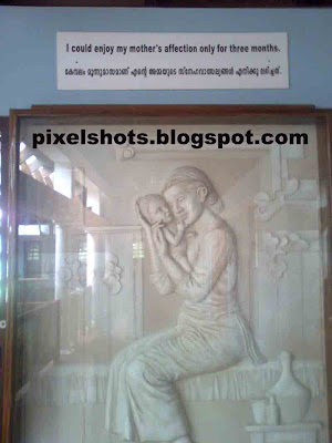 saint alphonsa,baby-alphonsa-and-mother-portrait,inside-alphonsas-home,alphonseum,clay-portraits,kudamaloor-museum