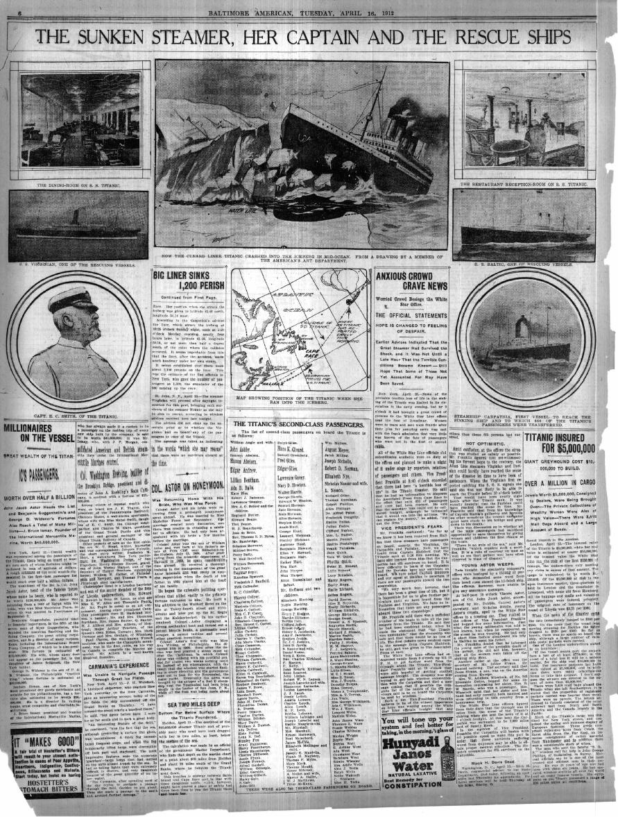 Titanic Articles & Newspapers
