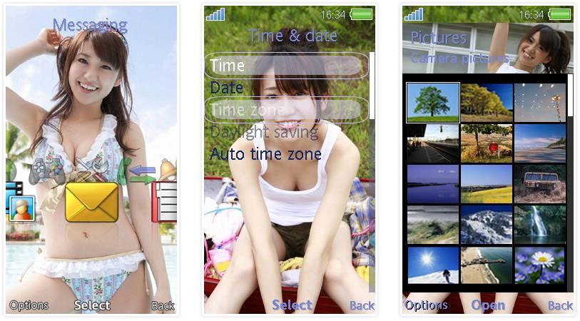 大島優子 Wallpaper: 大島優子@日本女子團體AKB48 SonyEricsson手機主題﹝240x432﹞