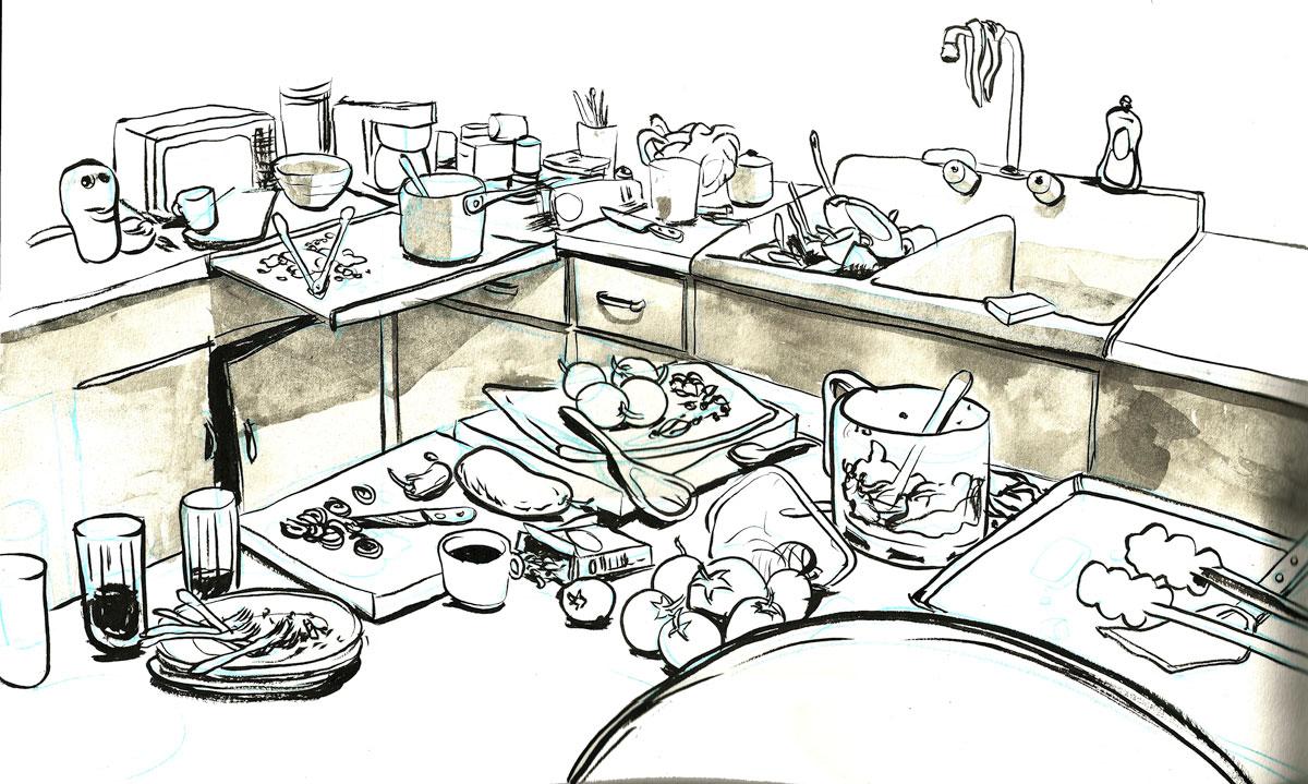 Dirty White Kitchen Table