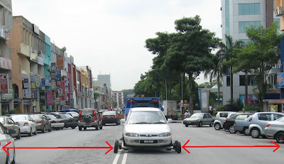 damansara uptown widened road with removal of center divider