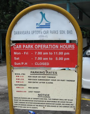 UPCP Open Car Park Parking Rates