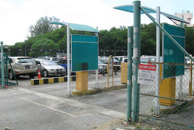 UPCP Open Car Park in Damansara Uptown entrance