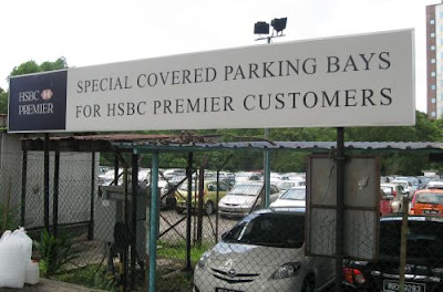 HSBC Damansara Uptown Premier Banking customers covered car parks