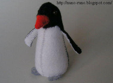 Penguin of felt