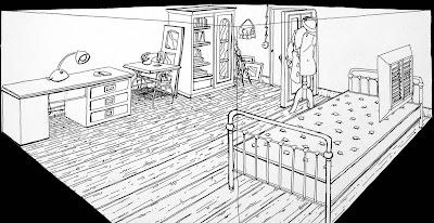 drabique piece en perspective. Black Bedroom Furniture Sets. Home Design Ideas