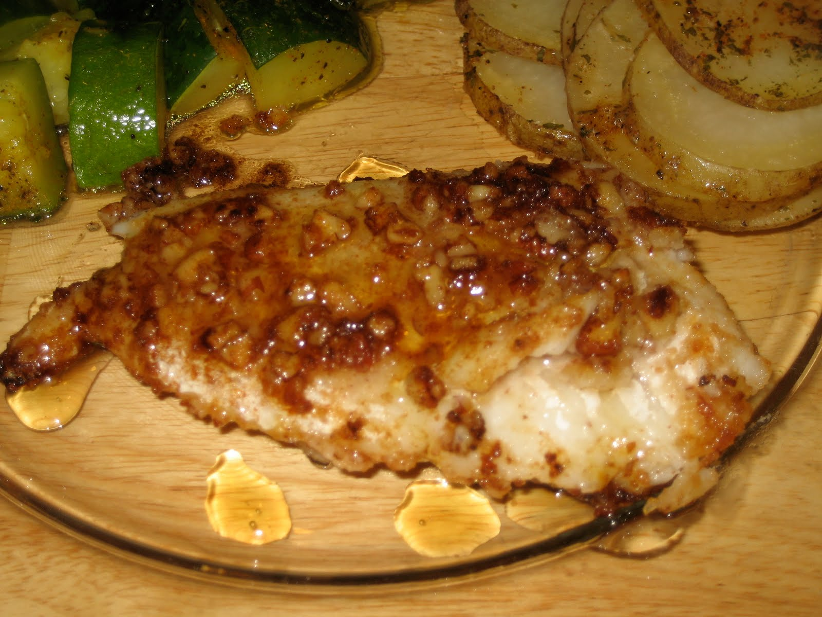 Time To Clean Out The Pantry! Pecan Crusted Cod