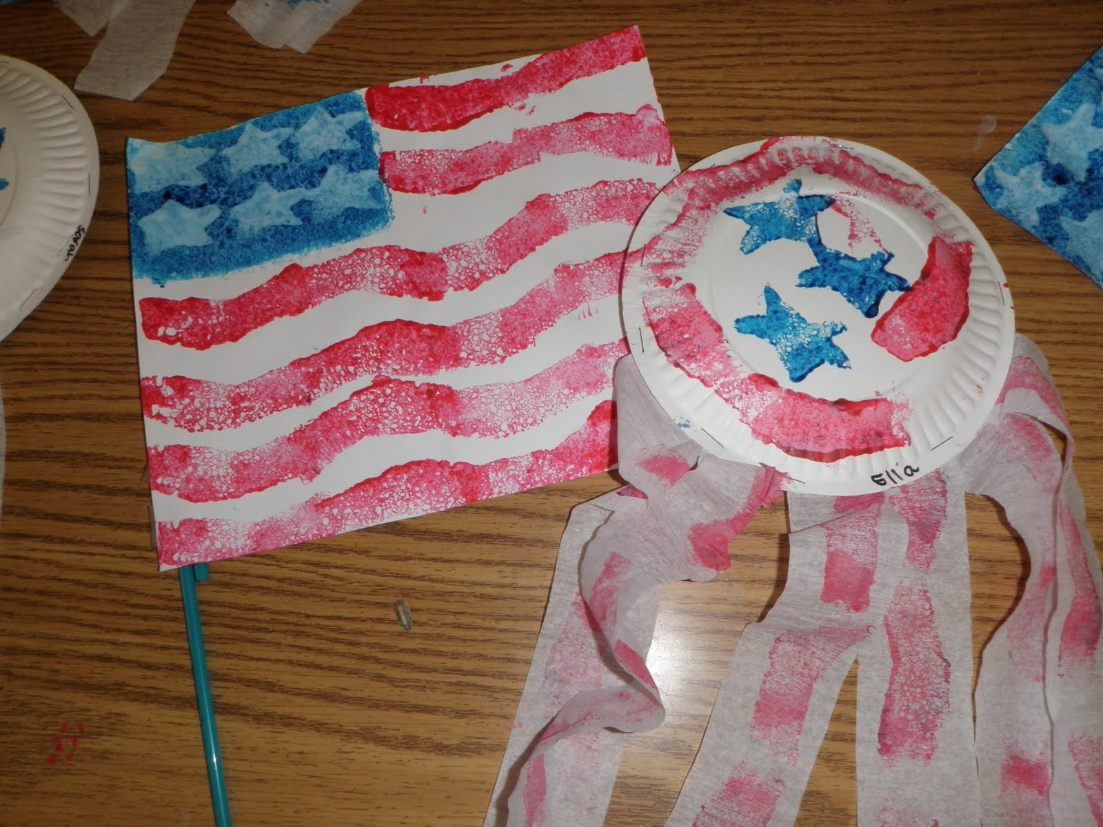 Preschool Crafts For Kids 4th Of July Flag And Shaker Craft