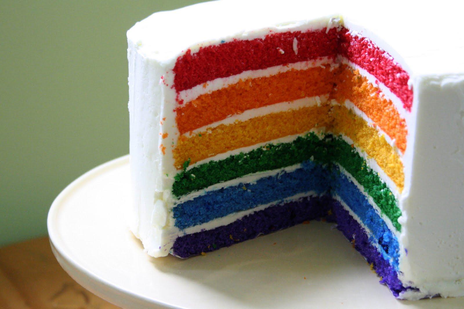 Rainbow Cake Oven Love