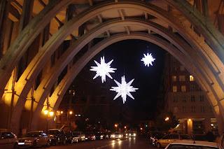 Fotos de Navidad 2008 en Madrid. Las estrellas de Navidad del Viaducto