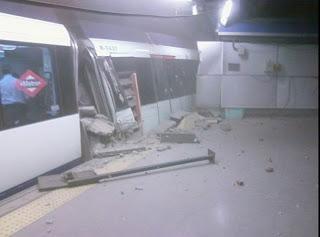 Descarrilamiento del metro en la linea circular