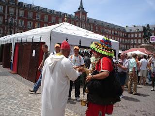 Un zoco marroquí en la Plaza Mayor de Madrid