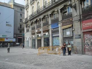 La mudanzas de la Puerta del Sol