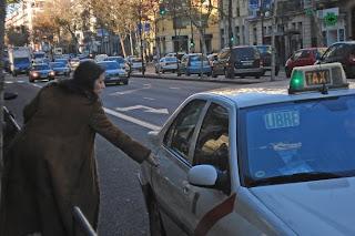 Dándole caña al gremio de los taxistas