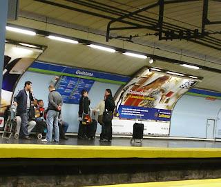 Los músicos del metro de Quintana